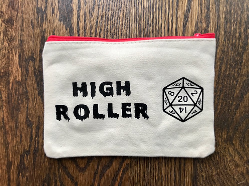 High Roller: Canvas Gamer Dice bag (mono)