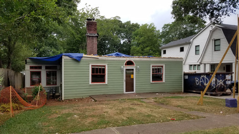 Our house with the roof removed: 2016