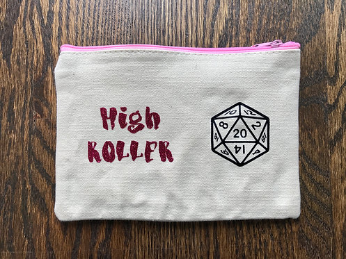 High Roller: Canvas Gamer Dice bag (Glitter)