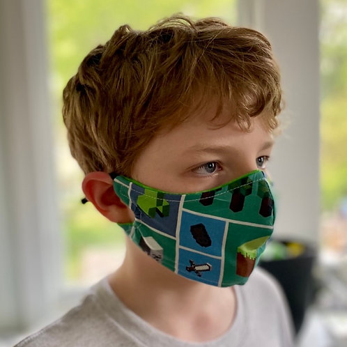 Custom Minecraft fitted handmade: Face mask
