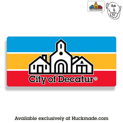 City of decatur, decatur, decatur ga, sticker, decal, indiecatur, huckmade, stephen decatur
