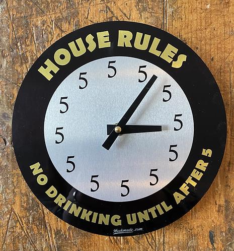 House Rules: Aluminum Wall Clock