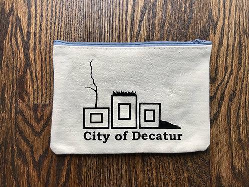 Decatur Planters: Canvas Pencil bag (mono)