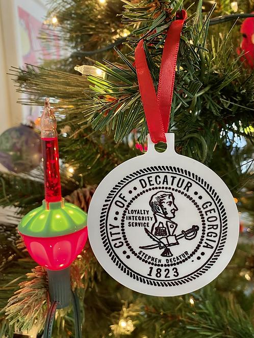 City of decatur, decatur, huckmade, decaturga, indiecatur, Decatur ga, Ornament, Christmas  Ornament, holiday  Ornament
