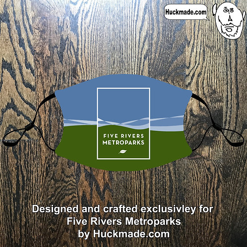 5 Rivers Metroparks: Custom Face mask w/Filter Pocket (design 2)