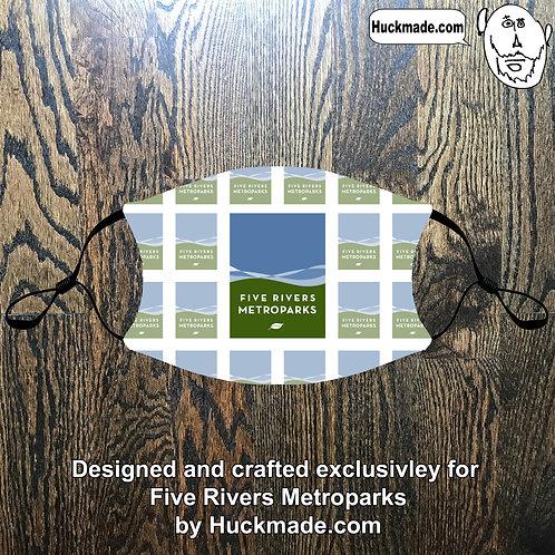 5 Rivers Metroparks: Custom Face mask w/Filter Pocket (design 4)