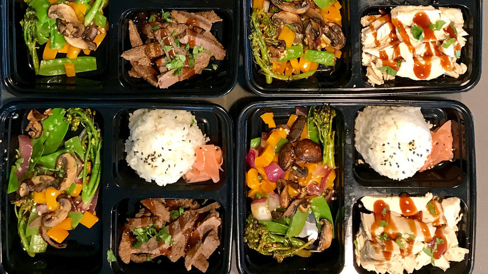 Homemade frozen stir fry lunches for my wife