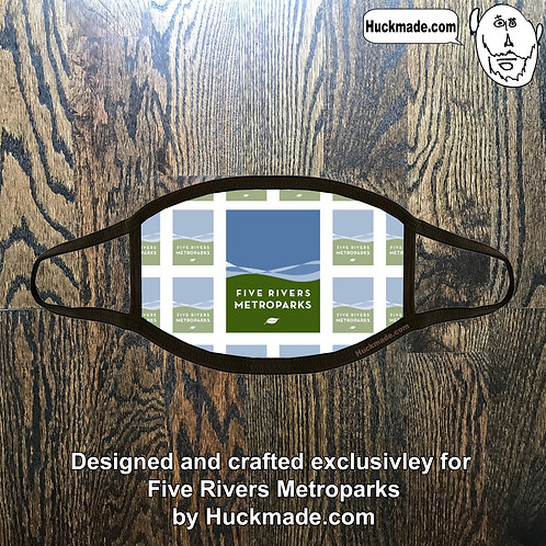 5 Rivers Metroparks: Custom Plush Face mask (Design 4)