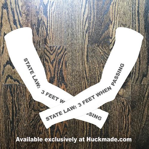 3 foot law, Huckmade, arm warmers, sun sleeves, bike sleeves, bicycle sleeves, spf50, bicycle club, Atlanta bike, ATL bike