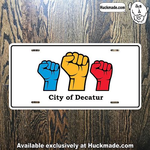 Decatur BLM: License Plate
