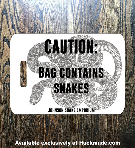 Bag Contains Snakes: Luggage Tag