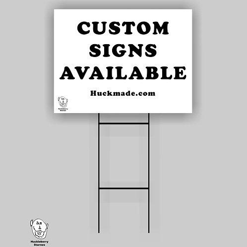 "Custom Yard Signs (100 signs): 18""x 24"" Yard Sign"