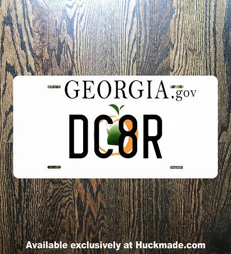 decatur, license plate, georgia plate, georgia license plate, dc8r, decatur ga, huckmade