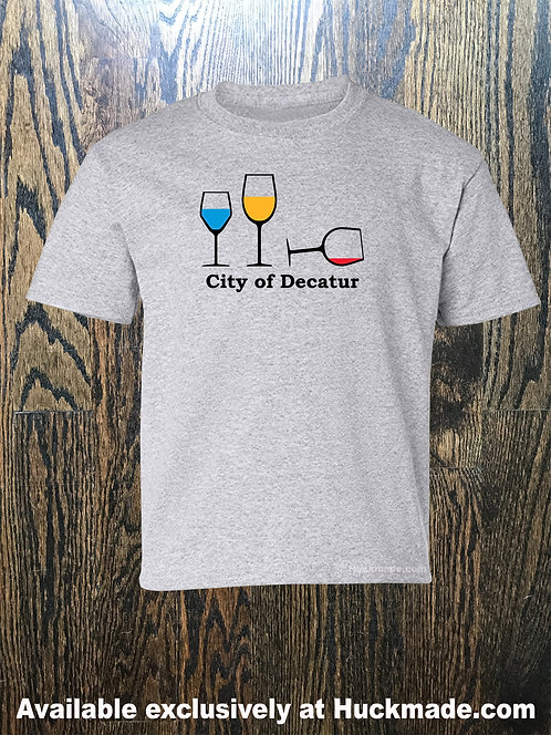 Decatur Wine Party: Adult T-Shirt