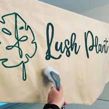 Custom 7'x3' canvas chainstitched banner