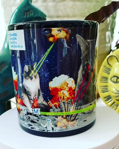 em3, huckmade, laser cat, space war, moon base, cats, laser cats
