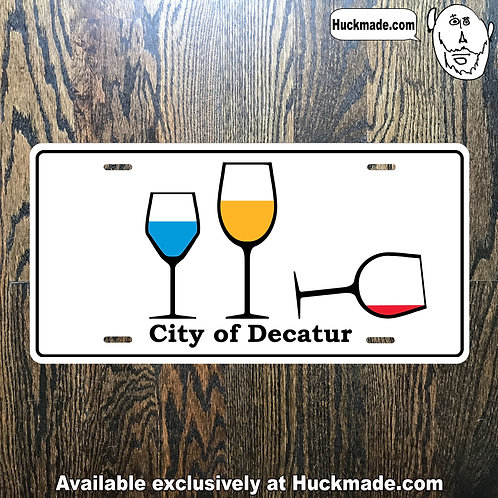 Decatur Wine Party: License Plate