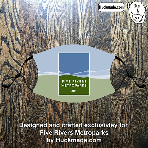 5 Rivers Metroparks: Custom Face mask w/Filter Pocket (design 3)