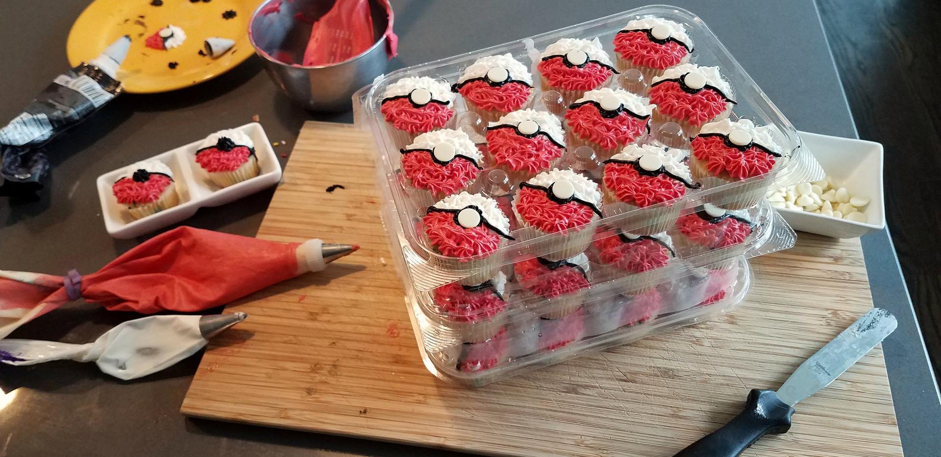 Homemade Pokemon cupcakes