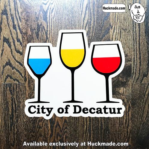 Decatur Wine: Sticker (medium)