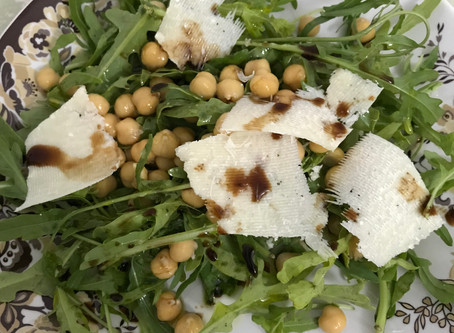 Chickpea & Parmesan Cheese Salad
