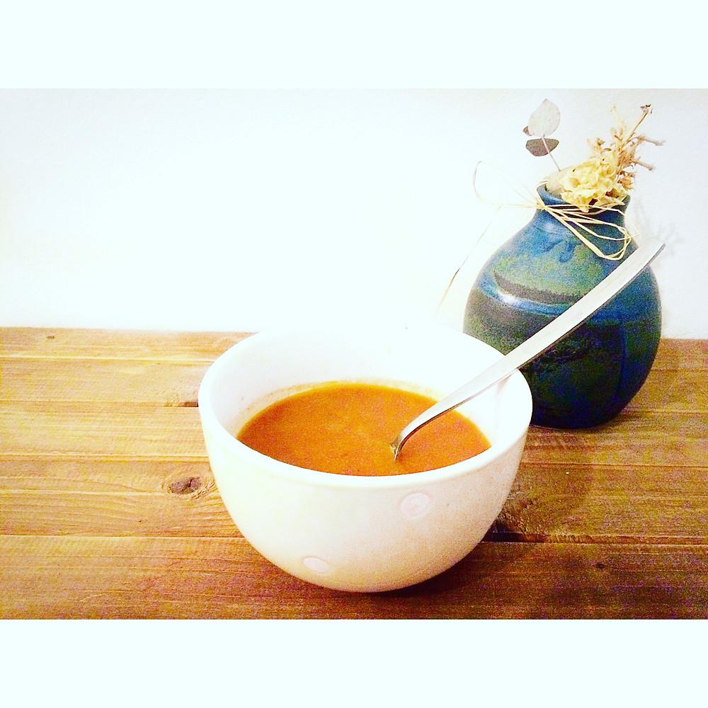 red pepper tomato soup מרק פלפלים עגבניות