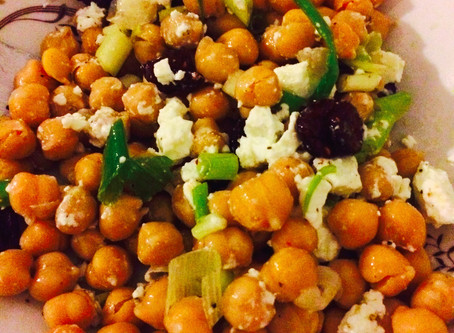 Easy Chickpea and Feta Salad