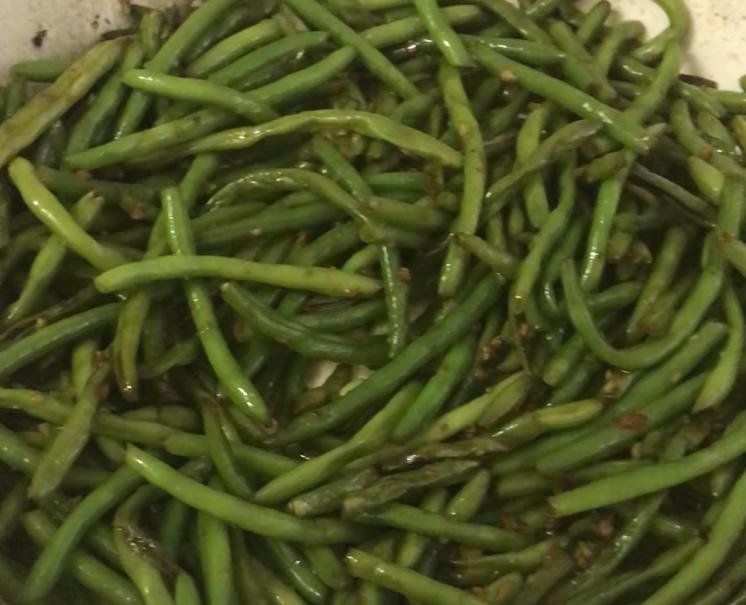 sauteed string beans שועית ירוקה