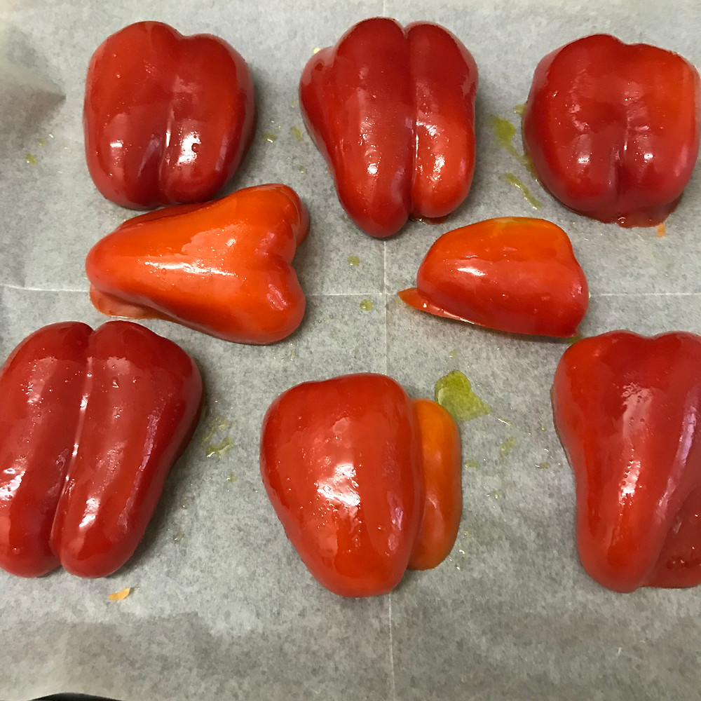 roasted red peppers פלפלים בתנור