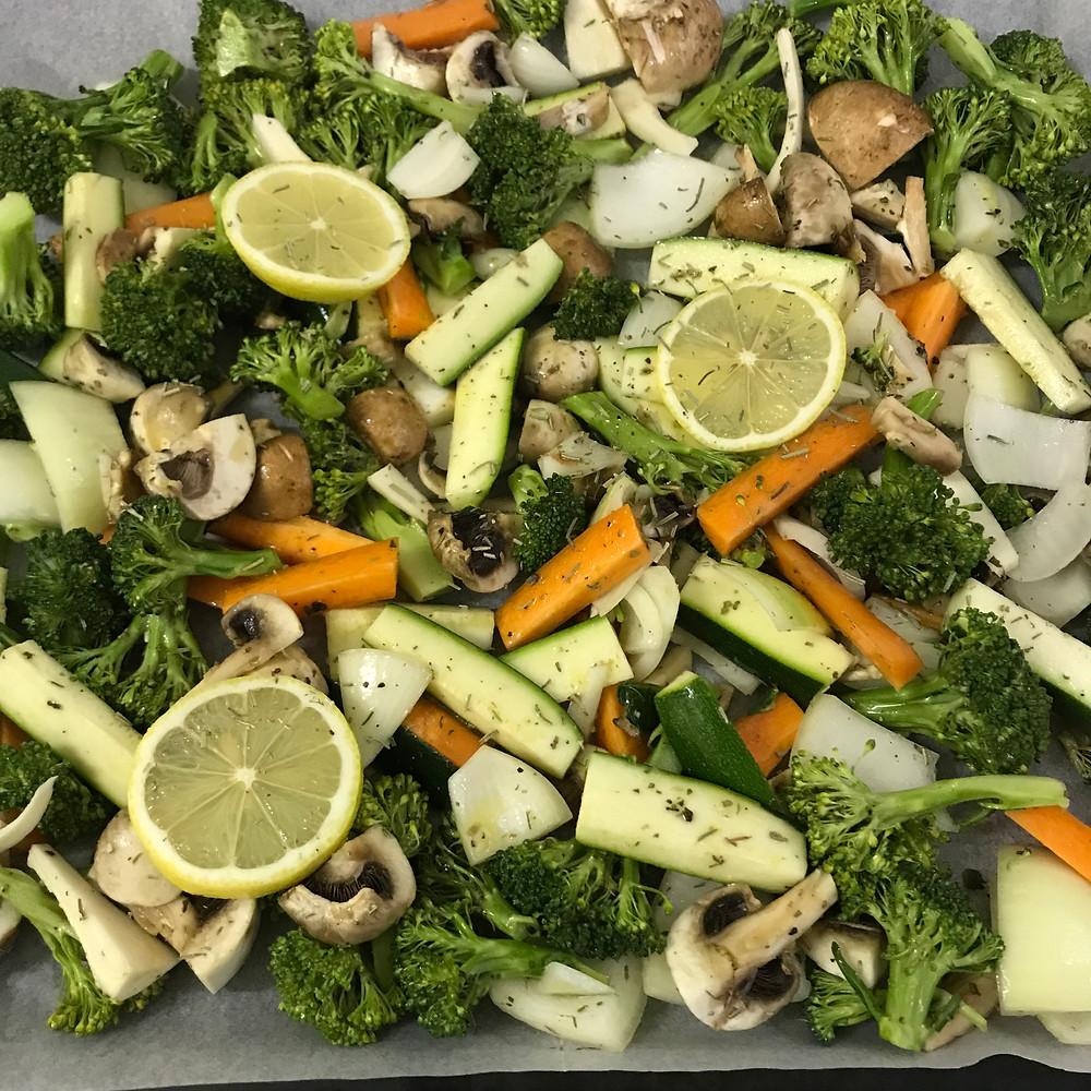 ירקות בתנור roasted vegetables