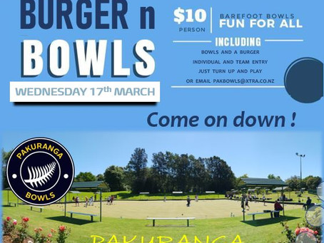 Burger & Bowls This Coming Week...