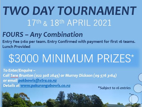 Annual Sir Lloyd Elsmore Tournament