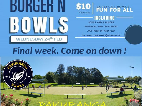 Burger & Bowls - Final Week