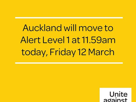 Auckland Goes To Level 1...