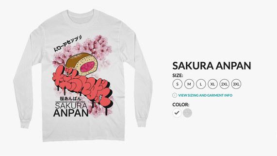 Sakura Anpan Long Sleeve