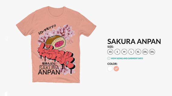 Sakura Anpan Shirt Sleeve