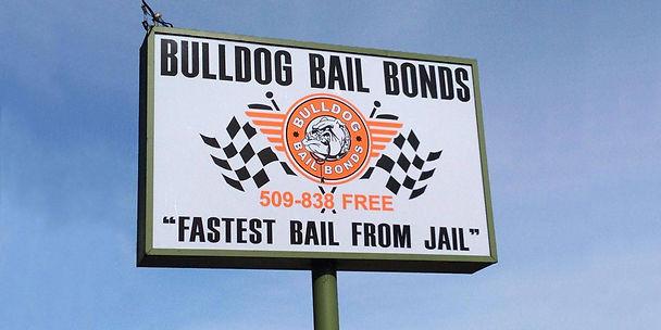 Billboard of bulldog bail bonds