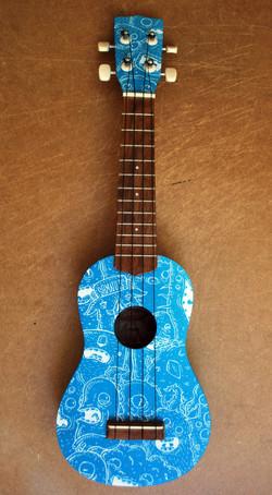 blue ukulele front