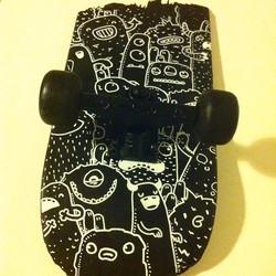 Piece of skateboard