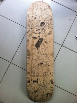 Ink transfer on wood