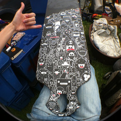 Longboard custom with Blackkross