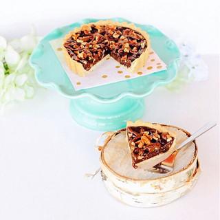 Aaaaand we're back! Chocolate pecan pies