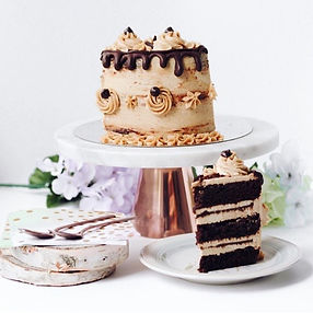 Our custom cakes are available by pre-or