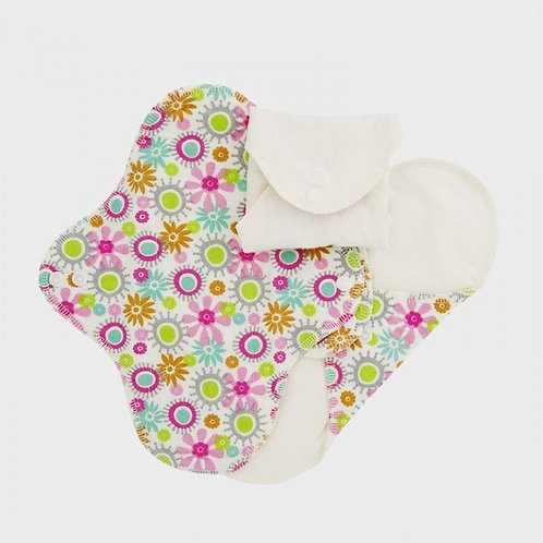 Eco Pads - Washable & Reusable 100% Organic Cotton Flannel - 3 Pack