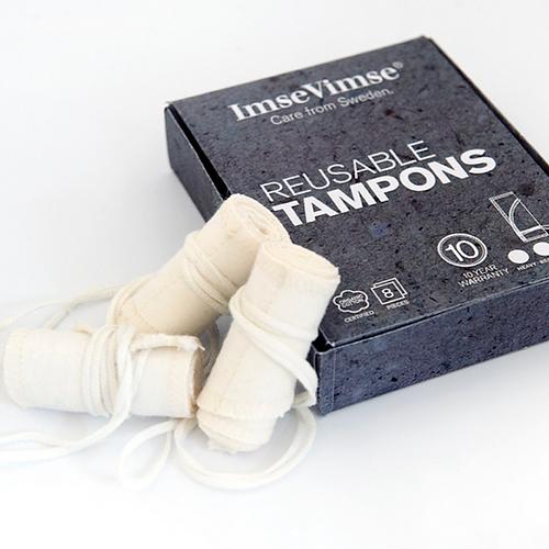 Reusable organic cotton tampons