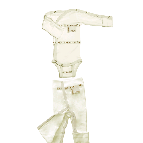 SET Baby Grow + Trousers Beibamboo Organic Prem-Newborn