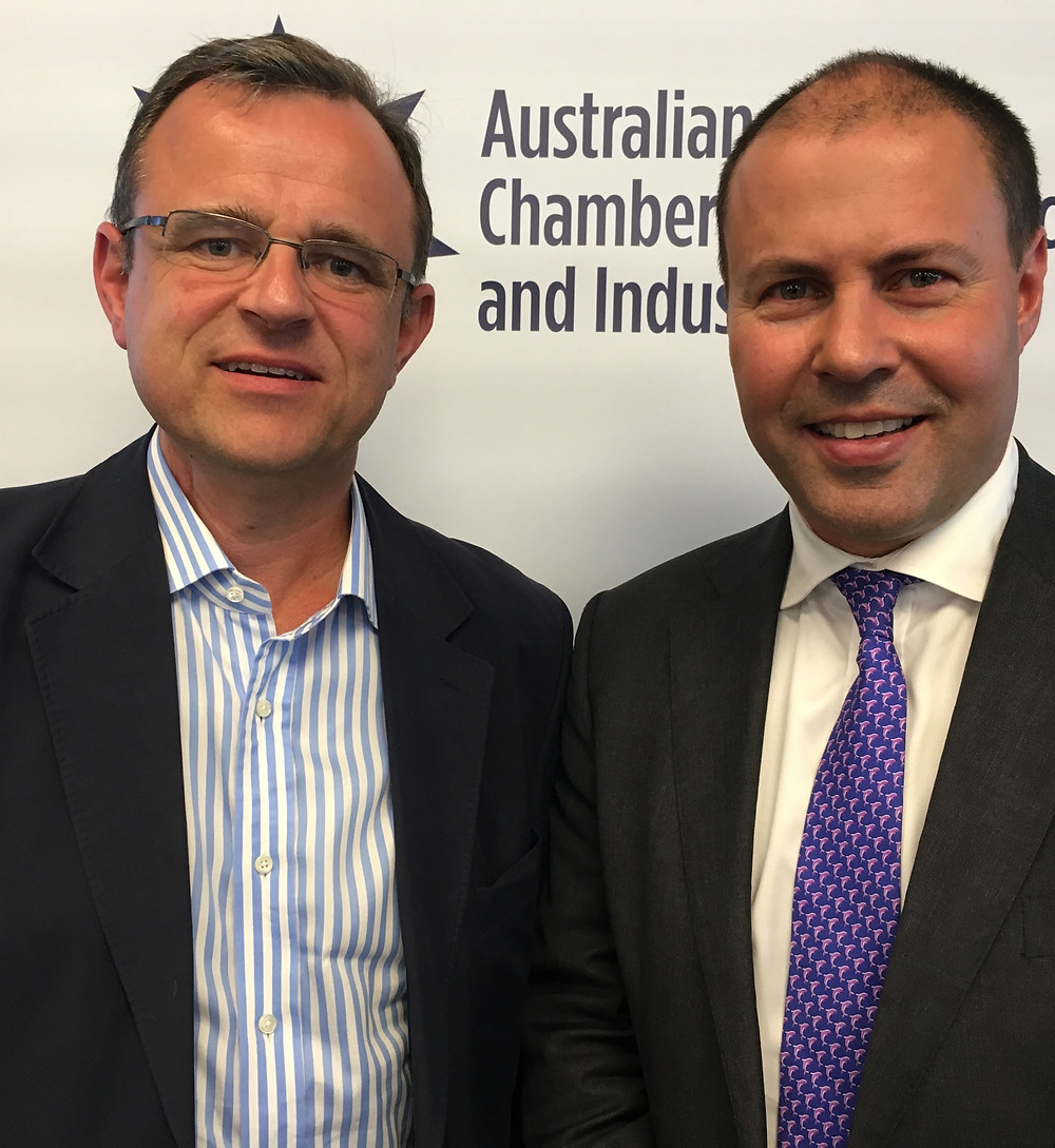 Edge Chairman with Federal Energy Minister Josh Frydenberg
