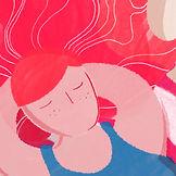 Rote Haar-Frau