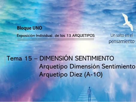 TEMA 15: DIMENSIÓN SENTIMIENTO. Arquetipo Dimensión Sentimiento. Arquetipo Diez (A-10)