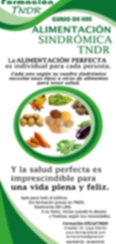 Alimentación sindrómica TNDR información curso